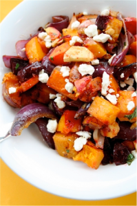 warm winter vegetable salad